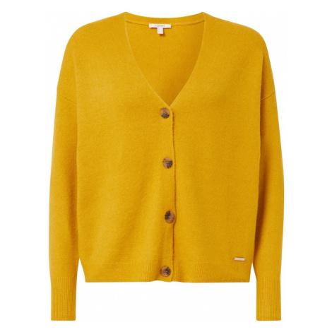 ESPRIT Kardigan żółty