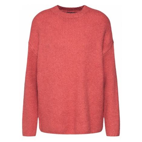 SELECTED FEMME Sweter 'Slfregina LS Knit O-Neck' pastelowa czerwień