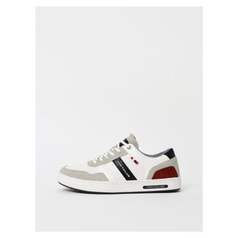 Szaro-białe sneakersy męskie Tom Tailor