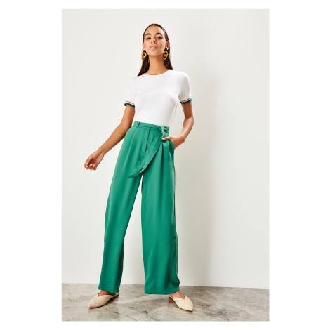 Trendyol Green Button Detailed Pants