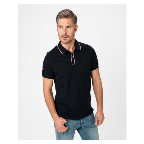 Tommy Hilfiger Polo Koszulka Czarny Niebieski