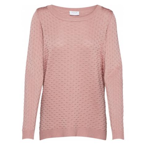 VILA Sweter różowy pudrowy