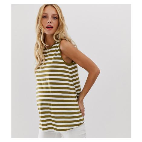 ASOS DESIGN Maternity sleeveless swing vest in stripe