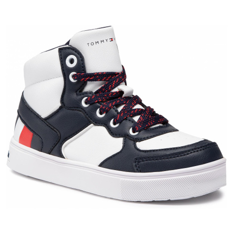 Sneakersy TOMMY HILFIGER - High Top Lace-Up Sneaker T3B4-30928-0621 M Blue/White X007