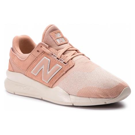 Sneakersy NEW BALANCE - WS247HPC Pomarańczowy