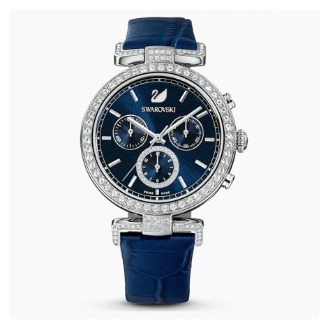 Zegarek Era Journey, pasek ze skóry, niebieski, stal nierdzewna Swarovski