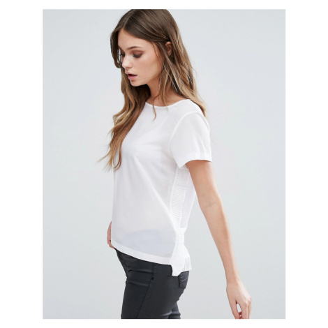 French Connection Polly Plains Frill Side Top