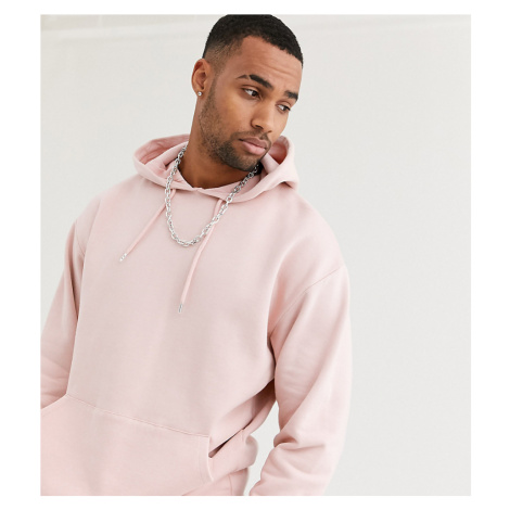 ASOS DESIGN Tall oversized hoodie in light pink