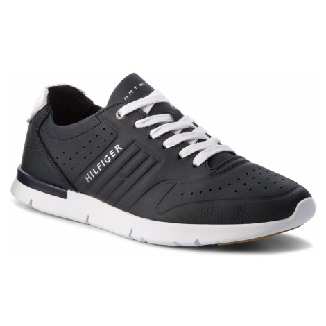 Sneakersy TOMMY HILFIGER - Unlined Th Light Leather Runner FM0FM01630 Midnight 403