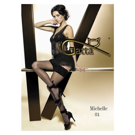 Gatta Udo wysoki pończochy Michelle Nero 01
