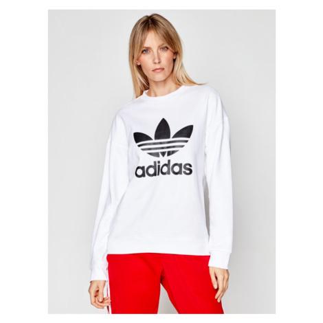 Adidas Bluza Trefoil GN2961 Biały Regular Fit