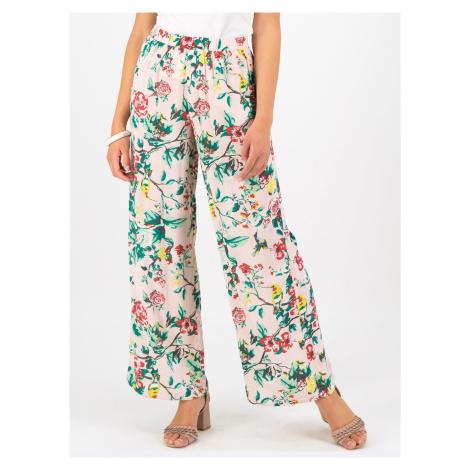 Jasnoróżowe kwiatowe spodnie Blutsgeschwister