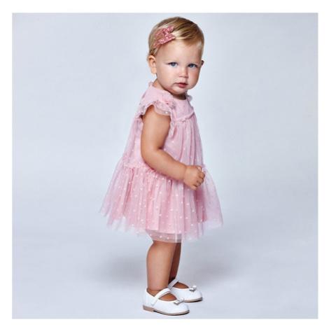 Mayoral Sukienka elegancka 1957 Różowy Regular Fit