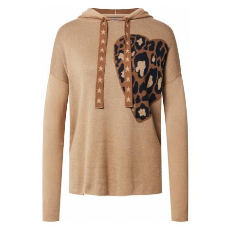 LIEBLINGSSTÜCK Sweter 'Sue' jasnobrązowy / ciemnobrązowy / czarny
