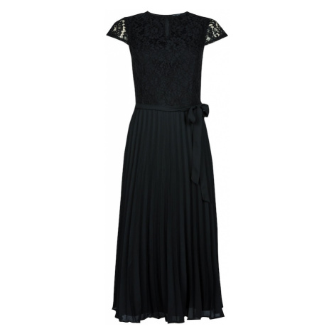 Dorothy Perkins Sukienka koktajlowa 'BLACK LACE PLEAT MIDI DRESS' czarny