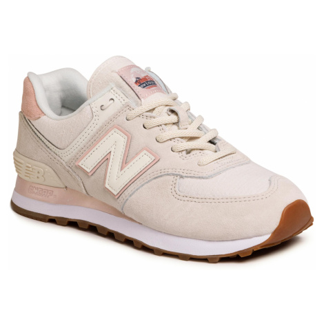 Sneakersy NEW BALANCE - WL574SAY Beżowy