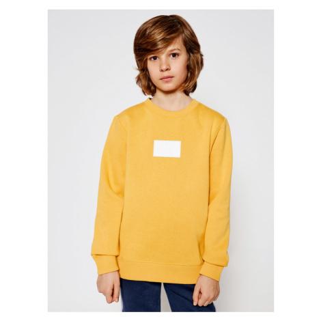 Calvin Klein Jeans Bluza Reflective Ck Badge IB0IB00634 Żółty Regular Fit