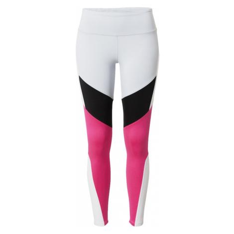 REEBOK Spodnie sportowe biały / różowy / czarny
