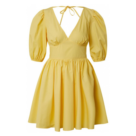 Miss Selfridge Sukienka 'YLW FNF POPLIN DRESS' żółty
