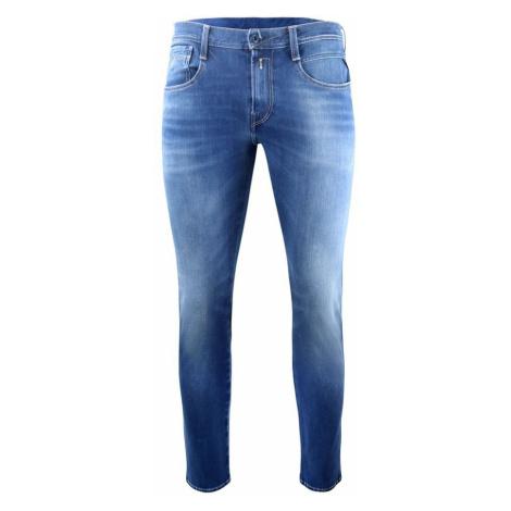 Anbass Hyperflex Bi-Stretch Blue Denim Jeans Replay