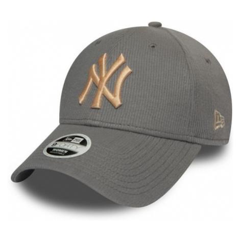 New Era 9FORTY W MLB RIBBED JERSEY NEW YORK YANKEES szary  - Klubowa czapka z daszkiem damska