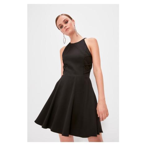Trendyol Black Control Domain Binding Detailed Dress