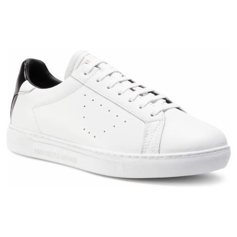 Sneakersy EMPORIO ARMANI - X4X316 XM500 N023 Opt.White/Blk Print