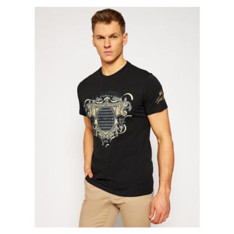 La Martina T-Shirt RMR301 JS206 Czarny Regular Fit