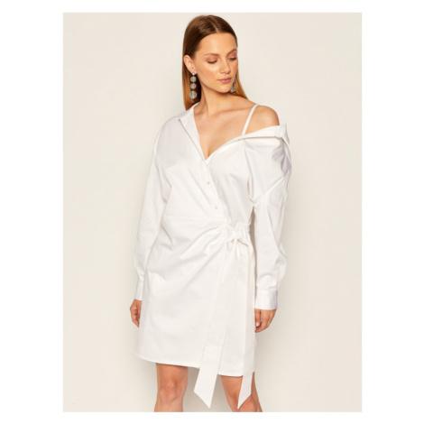 Guess Sukienka koszulowa Karyda W0YK0H WD2M0 Biały Regular Fit