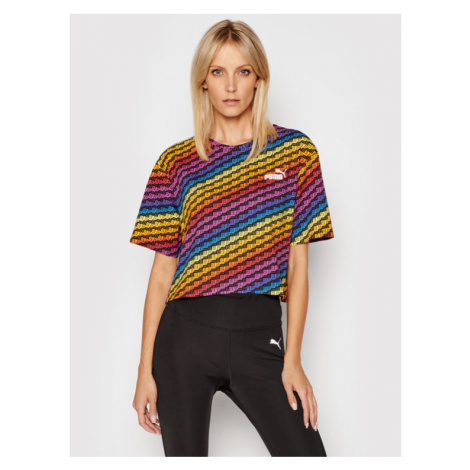 Puma T-Shirt Pride Aop Tee Wmns 587233 Kolorowy Relaxed Fit