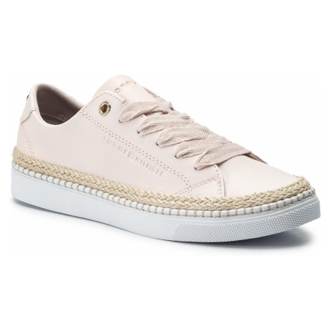 Espadryle TOMMY HILFIGER - Tommy Jute City Sneaker FW0FW04145 Silver Peony 658