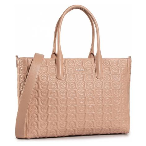 Torebka PINKO - Love Shopping Monogram Al 20-21 PLTT 1P21XS Y6NX Light Pink Q19
