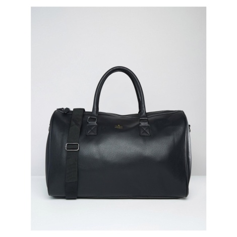 ASOS DESIGN holdall in black with gold emboss
