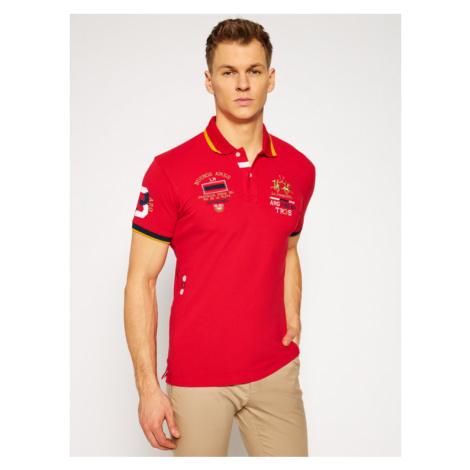 La Martina Polo RMP303 PK001 Czerwony Slim Fit