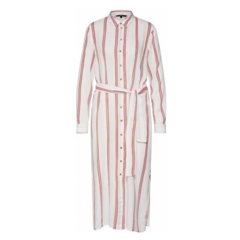 VERO MODA Sukienka koszulowa 'VMHANNA LS LONG SHIRT LCS' niebieski / pomarańczowy / biały