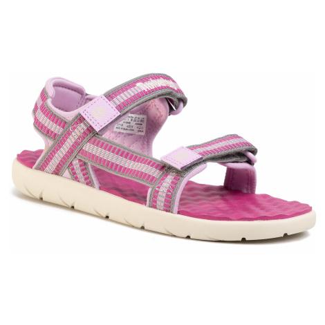 Sandały TIMBERLAND - Perkins Row Webbing Sndl TB0A1QHFD56 Medium Pink