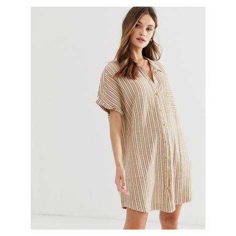 Rhythm Bahamas beach shirt dress in sunburn stripe