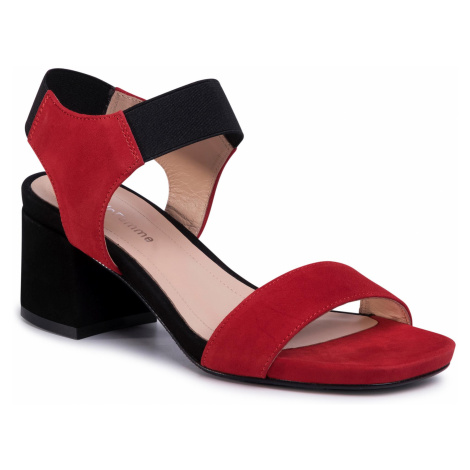 Sandały SOLO FEMME - 33709-01-G13/020-07-00 Czerwony/Czarny