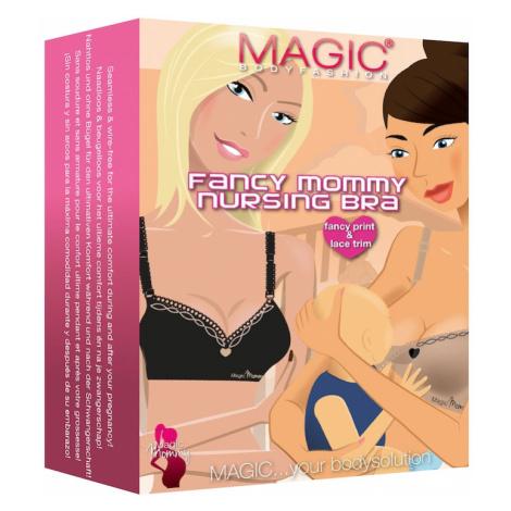 MAGIC Bodyfashion Biustonosz dla karmiących 'Fancy Mommy Nursing Bra' czarny / beżowy