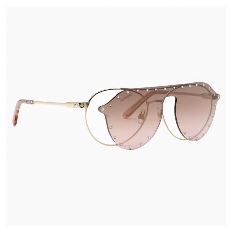 Okulary przeciwsłoneczne Swarovski z nakładką SK0276-H 54032, różowe