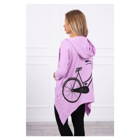 Bluza z fioletowym nadrukiem rowerowym