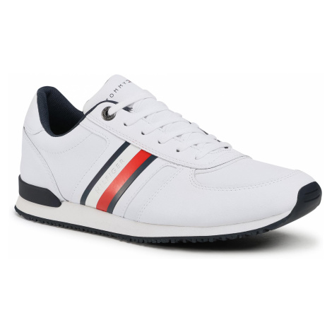 Sneakersy TOMMY HILFIGER - Iconic Mix Runner FM0FM03204 White YBR