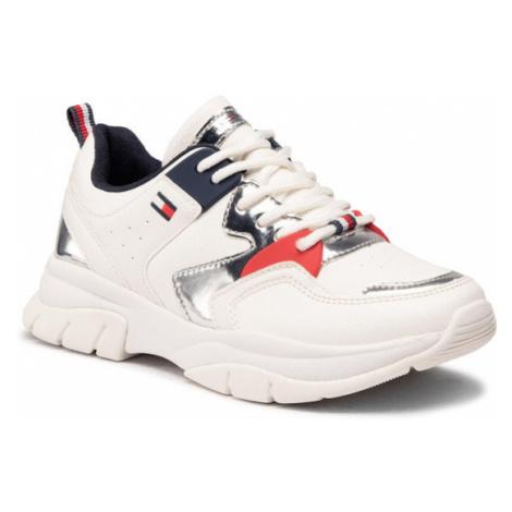 Tommy Hilfiger Sneakersy Low Cut Lace-Up Sneaker T3A4-30821-0193 M Biały