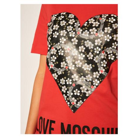 LOVE MOSCHINO T-Shirt W4F152LM 3876 Czerwony Regular Fit