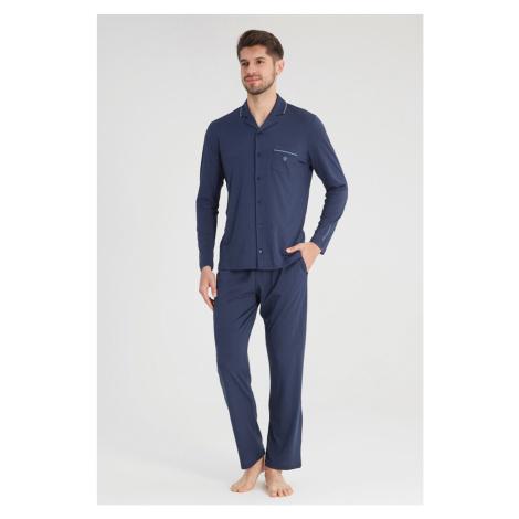 Granatowa piżama Elegant Blackspade