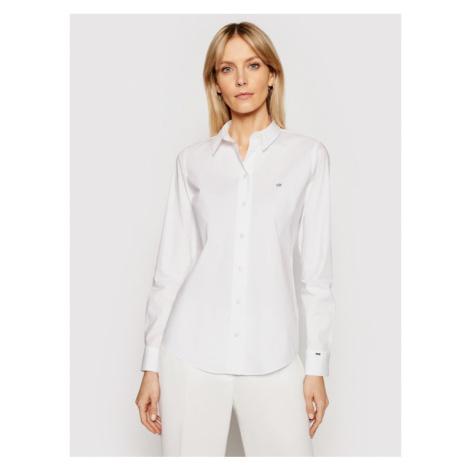 Calvin Klein Koszula K20K202020 Biały Slim Fit