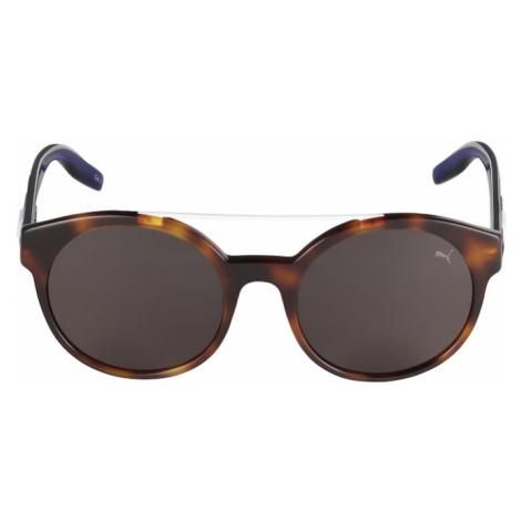 PUMA Okulary przeciwsłoneczne 'PU0226S-005 52' niebieski / brązowy / czarny