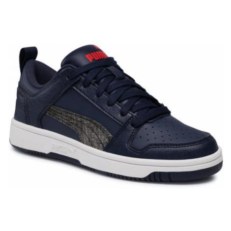 Puma Sneakersy Rb LayUp Garment Washed Jr 371474 02 Granatowy