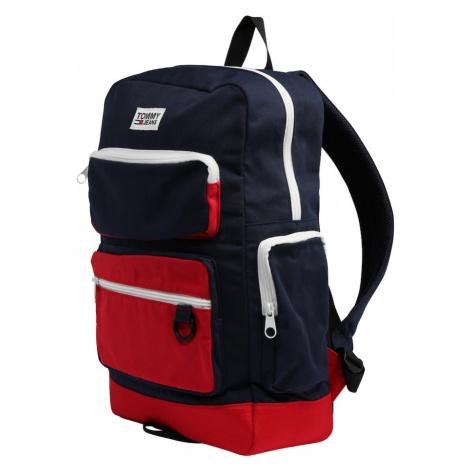 Tommy Jeans Plecak 'TJM EXPLORER' biały / niebieski / czerwony Tommy Hilfiger