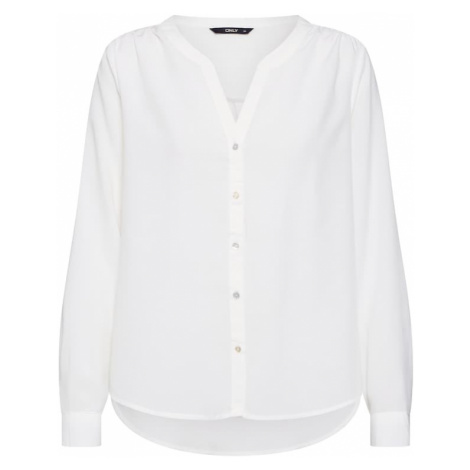 ONLY Bluzka 'onlSUGAR FALLOW L/S SHIRT WVN' biały